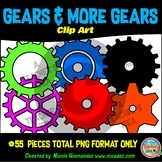 Gears Clipart for Teachers, Clip Art for Commercial Use