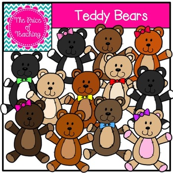 Teddy Bear Clipart Set