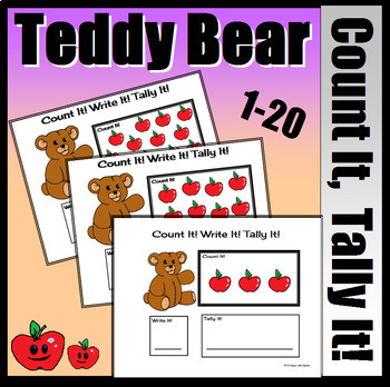Teddy Bear Count It, Write It, Tally It! (Colored Vers.)