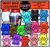 Teddy Bear Counters Clip Art Bundle {Educlips Clipart}