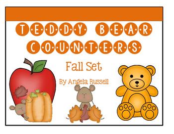 Teddy Bear Counters ~ Fall Set