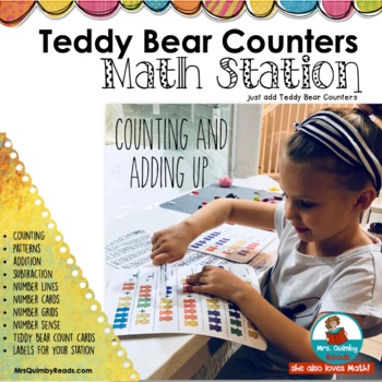 Teddy Bear Counters Math Station| Count, Patterns, Number Lines [&More]