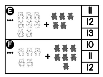 Teddy Bear Counting Differentiated Center