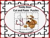 Teddy Bear Cut and Paste Puzzles Preschool Kindergarten Special Education,Autism