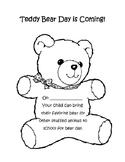 Teddy Bear Day Reminder