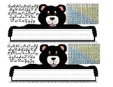 Teddy Bear Desk Name Tags with Multiplication Array Reference