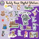 Teddy Bear Digital Stickers for Distance Learning