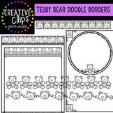 Teddy Bear Doodle Borders {Creative Clips Digital Clipart}