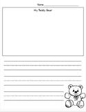 Teddy Bear Drawing/Writing