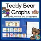 Teddy Bear Pictographs, Horizontal and Vertical Graphs