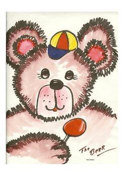 Elementary Visual Art Project - Teddy Bear Head