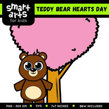 Teddy Bear Hearts Day Clip Art