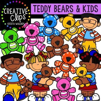 Teddy Bear Kids {Creative Clips Digital Clipart}