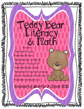 Teddy Bear Literacy and Math