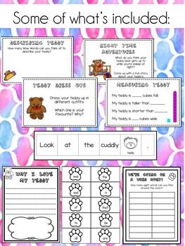 Teddy Bear Literacy and Numeracy Activity Cards