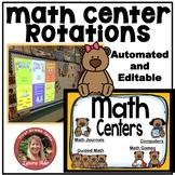 Teddy Bear Math Centers Rotations Editable Powerpoint