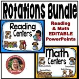 Teddy Bear Math and Reading Rotations Bundle