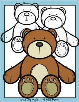 Teddy Bear Multicolored Clip Art Set - Chirp Graphics