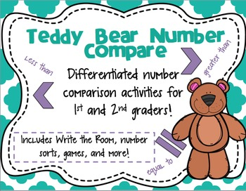 Teddy Bear Number Compare - Differentiated number comparison activities!