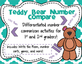 Teddy Bear Number Compare - Differentiated number comparis