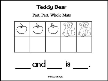 Teddy Bear Part, Part, Whole Joining Numbers with Ten Frames