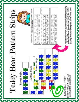 Teddy Bear Pattern Strips