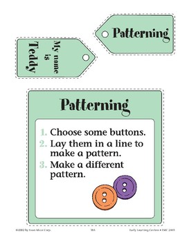Teddy Bear--Patterning