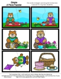 Teddy Bear Picnic - 2 Piece Puzzles - #60CentFinds - No Fr