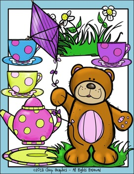 Teddy Bear Picnic Clip Art Set - Chirp Graphics