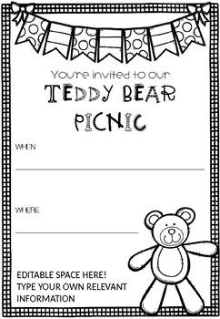 Teddy Bear Picnic Invitation Invite