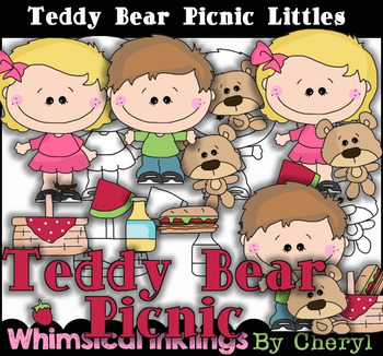 Teddy Bear Picnic Littles Clipart Collection