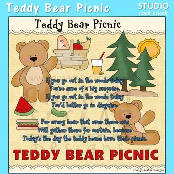Teddy Bear Picnic Nursery Rhyme Clip Art C Seslar