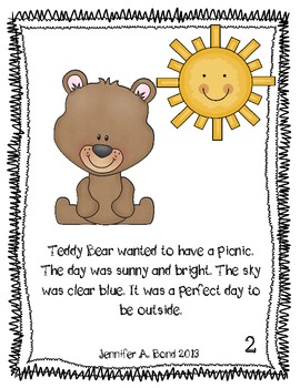 Teddy Bear Picnic printable book and activities