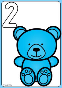 Teddy Bear Playdough Number Mats