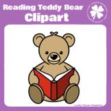 Teddy Bear Reading Clipart