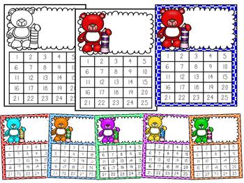 Reward Charts - Teddy Bear Themed