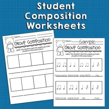 Teddy Bear Orff-Based Lesson and Rhythm Composition