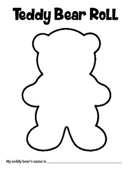 Teddy Bear Roll - A Math and Art Activity to Practice Adding 2 Numbers
