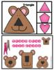 Teddy Bear Shapes Clip Cards