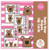 Teddy Bear Shapes Clip Cards