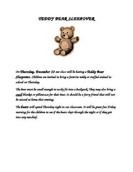 Teddy Bear Sleep Over