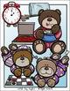 Teddy Bear Sleepover Clip Art Set - Chirp Graphics