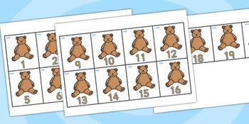 Teddy Bear Sorting Cards