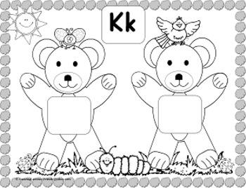 Teddy Bear Spring Time Alphabet Matching Mats