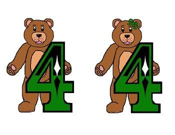 Teddy Bear Table/Row Numbers