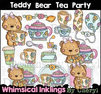 Teddy Bear Tea Party Clipart Collection