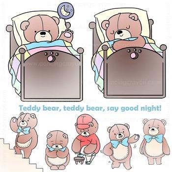 Teddy Bear Clip Art | Nursery Rhyme