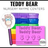 Teddy Bear, Teddy Bear  Nursery Rhyme Literacy Tasks