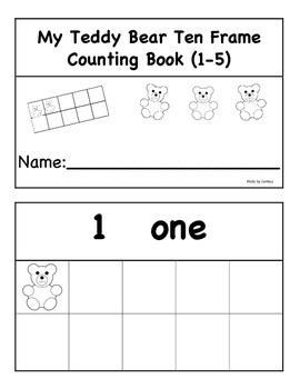 Teddy Bear Ten Frame Counting Book