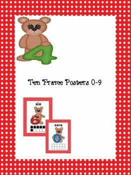 Teddy Bear Ten Frame Posters 0-9